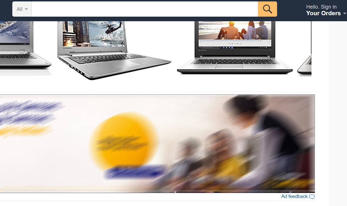 How Amazon captures feedback for ads on its website